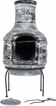 LA HACIENDA Linea Medium Mexico ovn m. grill - gråt/sort ler og stål, rund (Ø40)