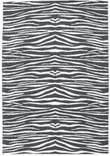 Zebra - Svart matta 150x210 Modern Matta