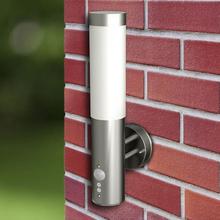 vidaXL Utebelysning Savona vägglampa 2-pack med rörelsedetektor