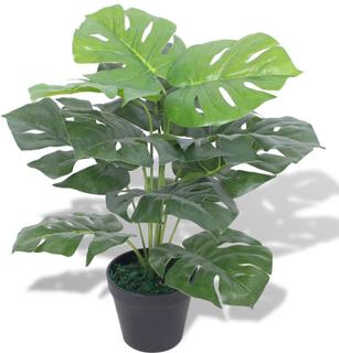 vidaXL Konstväxt Monstrera med kruka 45 cm grön