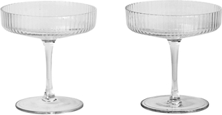 ferm Living Ripple Champagneglas - 2 stk