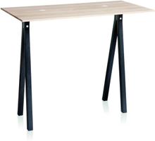 2-DOTS bord med sorte ben fra Nomess - Hvid