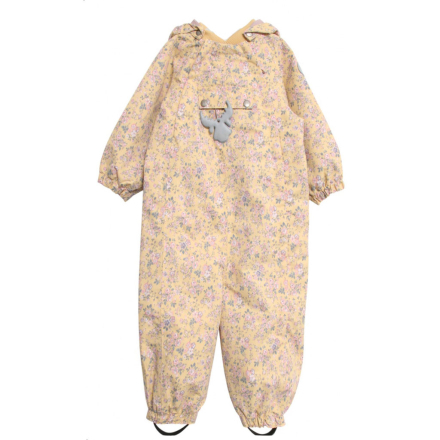 Wheat parkdress til baby med blomsterprint, gul