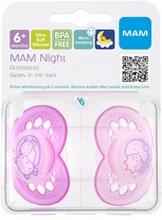 MAM Napp Original Night 6-16m silikon 2 st