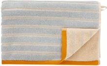 Hübsch håndklæde 50x100 cm - sand / blå / orange
