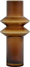 Nordal Rilla vase i glas 32 cm - Amber