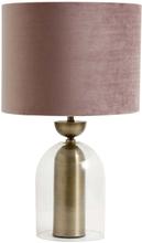 Nordal - Velour lampeskærm i rosa