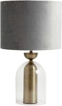 Nordal - Velour lampeskærm i grå