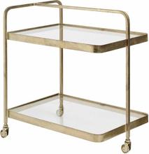 Nordal - Trolley rullebord i guld og klar glas