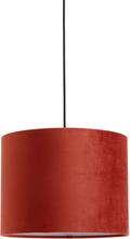 Nordal - Velour lampeskærm i rød