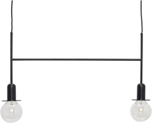 Hübsch loftlampe med pærer - sort