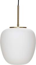 Hübsch pendel opal hvid og messing - Ø30 cm