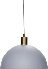 Hübsch pendel i grå og messing - Ø30 cm