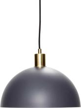 Hübsch pendel i mørk grå og messing - Ø30 cm