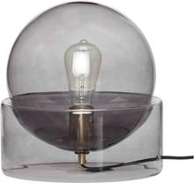 Hübsch bordlampe i smoked grey af glas
