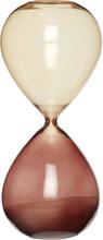 Hübsch timeglas brunt glas - 24 cm