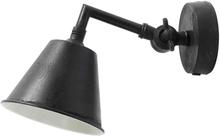 Nordal væglampe i antik sort