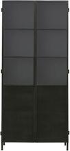 House Doctor Kabinet Collect Jern vitrineskab i sort - 200 cm