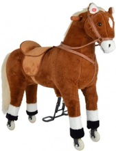AMIGO STOR XXL 90 cm Hest med kan ride MED HJUL by Pink Papaya