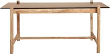 Nordal Amber spisebord m. glasplade - 180 cm