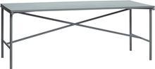 Hübsch havebord i grå jern - 191 cm