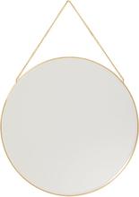 Hübsch rundt spejl messing - Ø40 cm