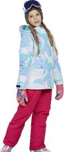 Lovely Boys Girls Winter Snowboard Parka Jacket Snow Bib Snowsuit Set Warm Snowsuit Hooded Ski Jacket + Pants 2 Pcs Set