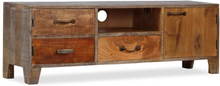 vidaXL TV-bänk massivt trä vintage 118x30x40 cm