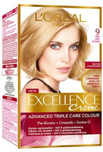 L'Oreal Excellence Creme Hair Color 9 Very Light Blonde 1 stk