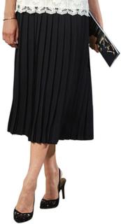Plisserad kjol svart 25 by Atelier Goldner Schnitt