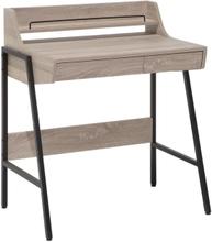 Beliani Skrivbord med 2 lådor 73 x 48 cm ljusbrun BROXTON
