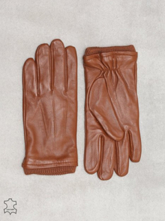 Selected Homme Slhjohn Leather Glove B Hansker og votter Lys brun
