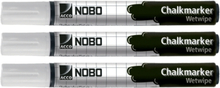 NOBO Chalk Markers Nobo White 3 pack 34438398 Replace: N/ANOBO Chalk Markers Nobo White 3 pack