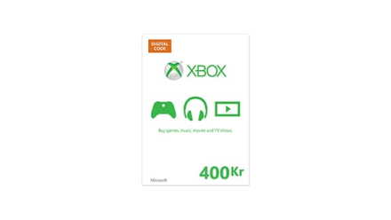 Xbox-gavekort Digital kode (400 NOK)