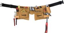 Toolpack Verktygsbälte med två fickor Superior läder 366.004