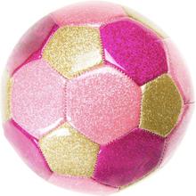 Lyserød Glitter Fodbold - Ø 15 cm