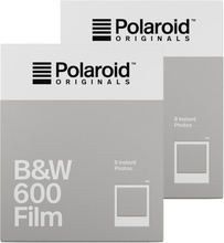 Polaroid Originals B&W Film For 600 White Frame 2-Pack, Polaroid Originals