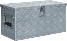 vidaXL aluminiumskasse 61,5 x 26,5 x 30 cm sølvfarvet