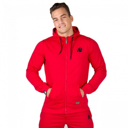 Gorilla Wear Classic Zipped Hoodie Red - Hettejakke