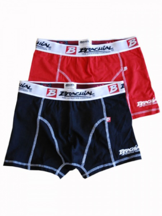"Brachial Boxer Short ""Under"" Red & Black - Boksershorts"