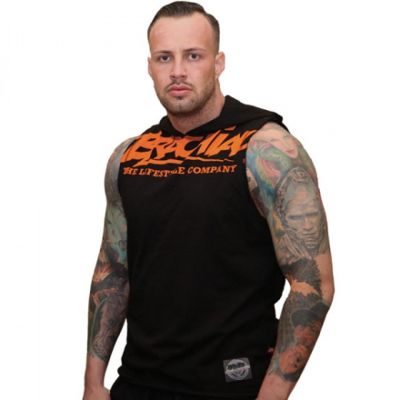 "Brachial Tank-Top ""Train"" Black / Orange"
