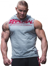 "Brachial Tank-Top ""Train"" Greymelange / Red"