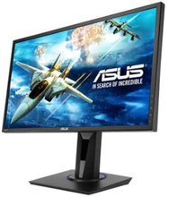 "ASUS VG245H - LED-skärm - 24"" - 1920 x 1080 Full HD (1080p) @ 75 Hz - TN - 250 cd/m² - 1 ms - 2xHDMI, VGA - högtalare - svart"