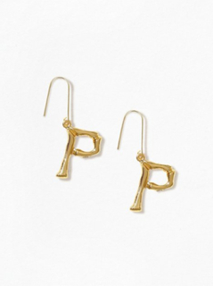 NLY Accessories Bamboo Letter Earrings P