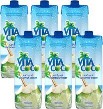 6 x Coconutwater Natural, 1 liter