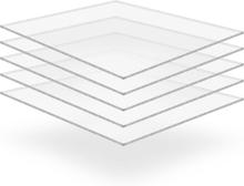 vidaXL Plexiglasskivor 5 st 40x60 cm 6 mm