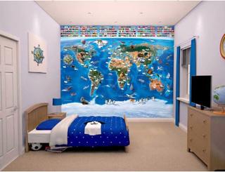 Walltastic fototapet World Map 41851
