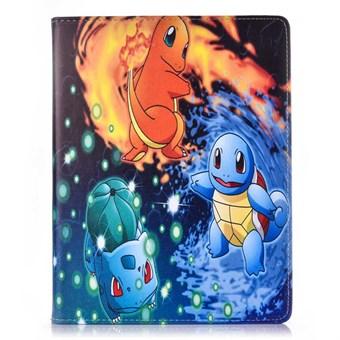 Pokemon etui til iPad mini 1/2/3 - Græs, vand og ild pokémon - Coolpriser