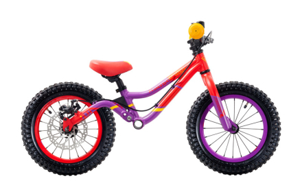 """s'cool pedeX Dirt Lapset potkupyörä 14"""" , punainen/violetti 2019 Lasten kulkuneuvot"""