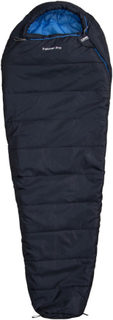 CAMPZ Trekker Pro Sleeping Bag anthracite/blue Left 2019 Syntetiske soveposer